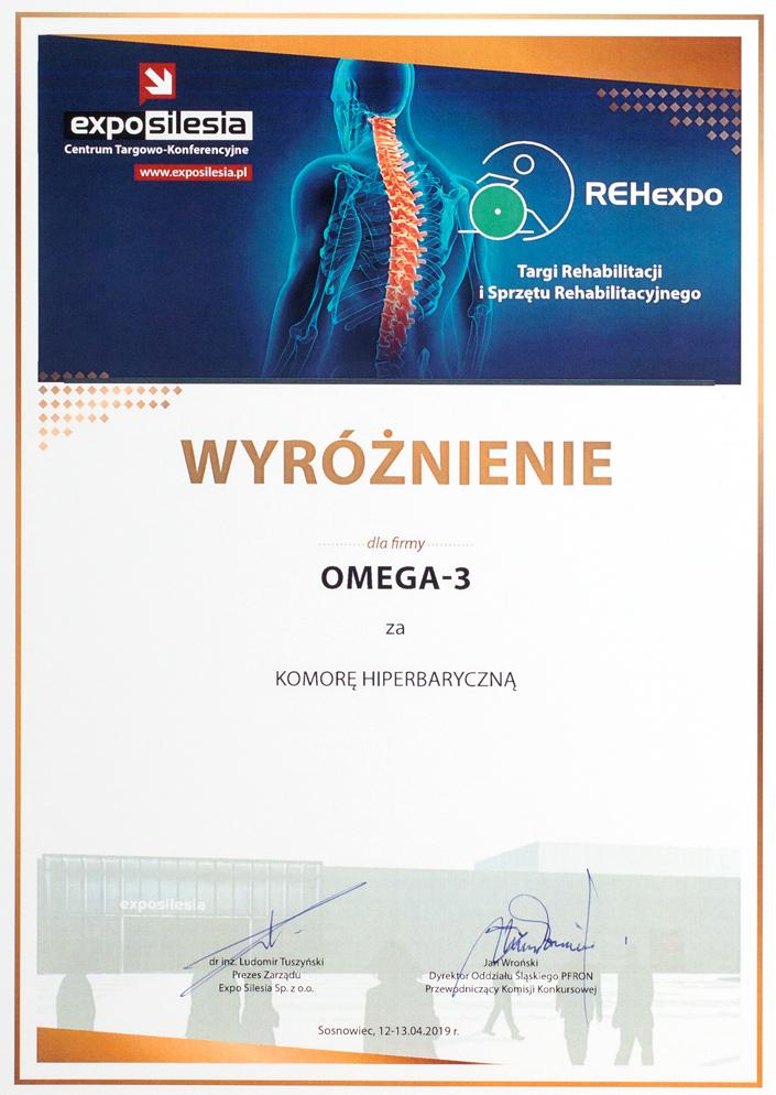Wyróżnienie - REHexpo 2019 - Omega-3